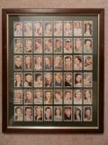 Photo Framed Set Of Cigarette Cards